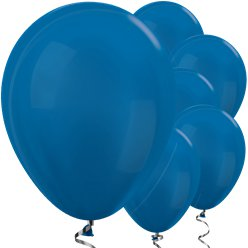 "Metallic Blue Balloons - 12"" Latex"