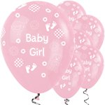 "Baby Girl Balloons - 12"" Latex"
