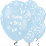"Baby Boy Balloons - 12"" Latex"
