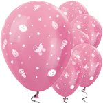 "Pink Baby Icons Balloons - 12"" Latex"