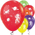 "Bright Space Balloons - 12"" Latex"