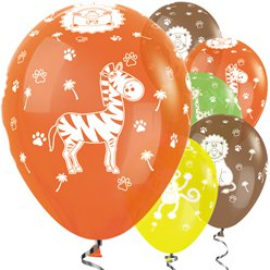 "Tropical Mix Jungle Balloons - 12"" Latex"