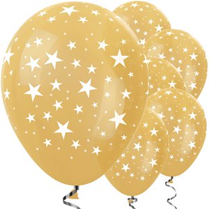 Gold Star Balloons - 12