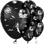 "Black Pirate Balloons - 12"" Latex"