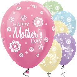 "Satin Bright Mother's Day Balloons - 12"" Latex"