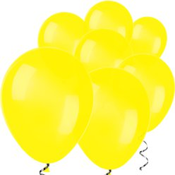 "Yellow Mini Balloons - 5"" Latex Balloons"