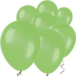 "Lime Green Mini Balloons - 5"" Latex Balloons"