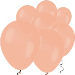 "Peach Mini Balloons - 5"" Latex Balloons"