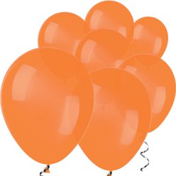 "Orange Mini Balloons - 5"" Latex Balloons"