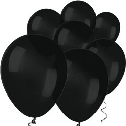 "Black Mini Balloons - 5"" Latex Balloons"