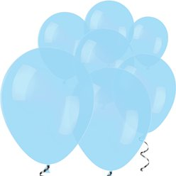 "Pastel Blue Mini Balloons - 5"" Latex Balloons"