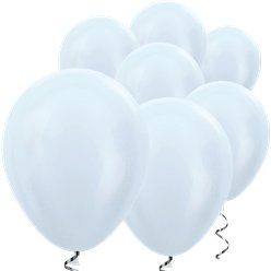 "White Satin Mini Balloons - 5"" Latex Balloons"