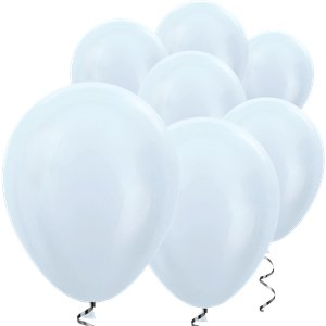 White Satin Mini Balloons - 5