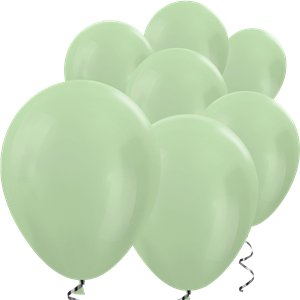 Green Satin Mini Balloons - 5