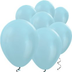 "Blue Satin Mini Balloons - 5"" Latex Balloons"