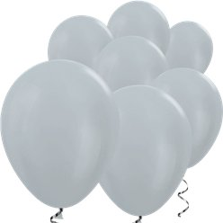 "Silver Satin Mini Balloons - 5"" Latex Balloons"