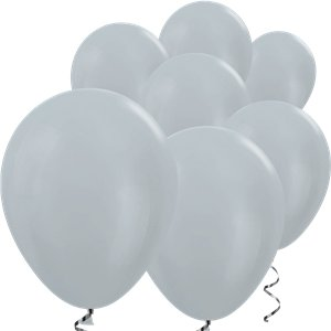 Silver Satin Mini Balloons - 5