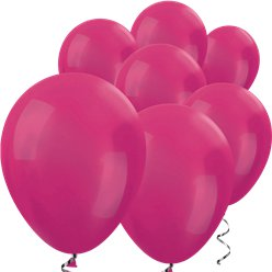 "Fuchsia Pink Metallic Mini Balloons - 5"" Latex Balloons"