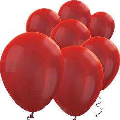 Red Metallic Mini Balloons - 5