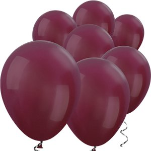 Burgundy Metallic Mini Balloons - 5