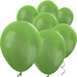 "Lime Green Metallic Mini Balloons - 5"" Latex Balloons"