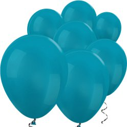 "Turquoise Blue Metallic Mini Balloons - 5"" Latex Balloons"