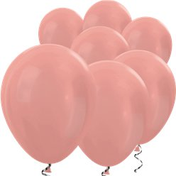 "Rose Gold Metallic Mini Balloons - 5"" Latex"