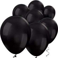 "Black Metallic Mini Balloons - 5"" Latex Balloons"
