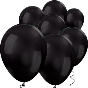 Black Metallic Mini Balloons - 5