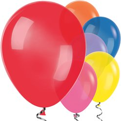 "Multi-coloured Balloons - 12"" Latex Balloons"
