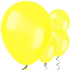 "Yellow Balloons - 12"" Latex Balloons"
