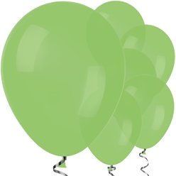 "Lime Green Balloons - 12"" Latex Balloons"