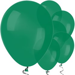 "Forest Green Balloons - 12"" Latex Balloons"
