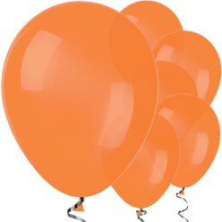 "Orange Balloons - 12"" Latex Balloons"