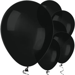 "Black Balloons - 12"" Latex Balloons"