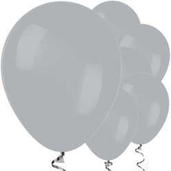 "Grey Balloons - 12"" Latex Balloons"