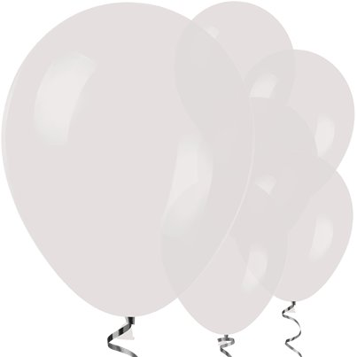 "Clear Crystal Balloons - 12"" Latex Balloons"