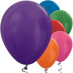 "Multi-coloured Metallic Balloons - 12"" Latex Balloons"