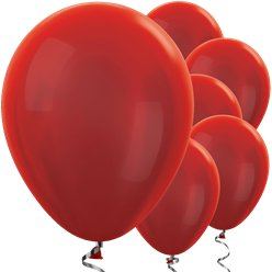 "Red Metallic Balloons - 12"" Latex Balloons"