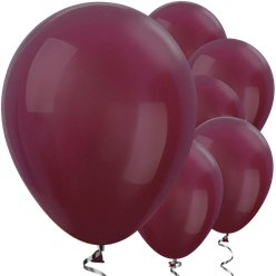 "Burgundy Metallic Balloons - 12"" Latex Balloons"