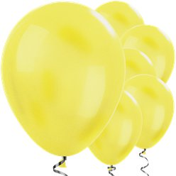 "Yellow Metallic Balloons - 12"" Latex Balloons"