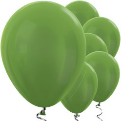"Lime Green Metallic Balloons - 12"" Latex Balloons"
