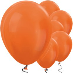 "Orange Metallic Balloons - 12"" Latex Balloons"