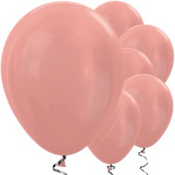 "Rose Gold Metallic Balloons - 12"" Latex"