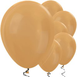 "Gold Metallic Balloons - 12"" Latex Balloons"