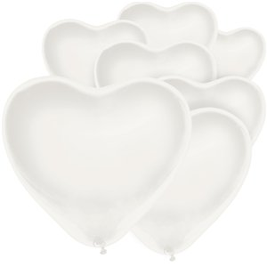 White Heart Balloon - 6
