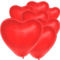 "Red Heart Balloon - 6"" Latex"