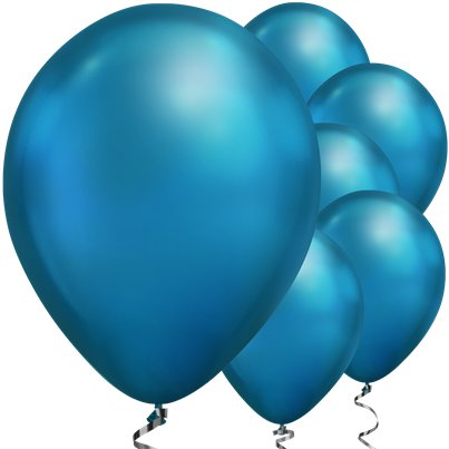 "Blue Chrome Balloons - 11"" Latex"