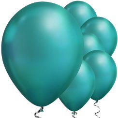 "Green Chrome Balloons - 11"" Latex"