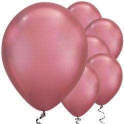 "Mauve Chrome Balloons - 11"" Latex"